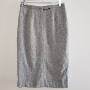 Ralph Lauren Grey Wool & Angora Knee Length Skirt